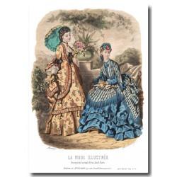 Gravure La Mode Illustrée 1870 36