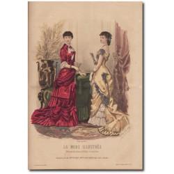 Gravure de La Mode Illustrée 1880 06