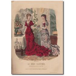 Gravure de La Mode Illustrée 1880 07