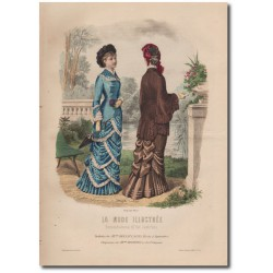 Gravure de La Mode Illustrée 1880 14