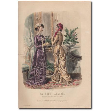Gravure de La Mode Illustrée 1880 17