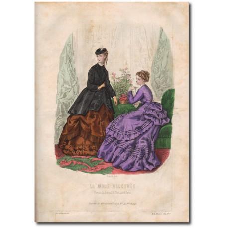 Gravure de La Mode Illustrée 1869 08