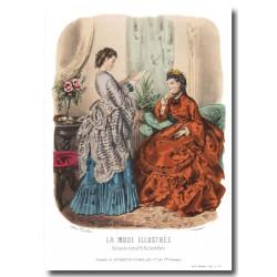 Gravure La Mode Illustrée 1870 38