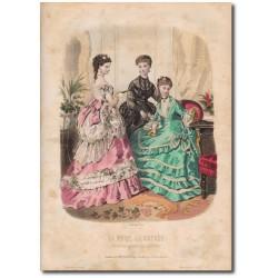 Gravure de La Mode Illustrée 1869 38