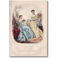 Gravure de La Mode Illustrée 1867 16