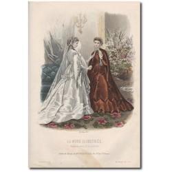 Gravure de La Mode Illustrée 1867 18