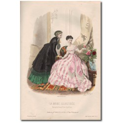 Gravure de La Mode Illustrée 1867 27