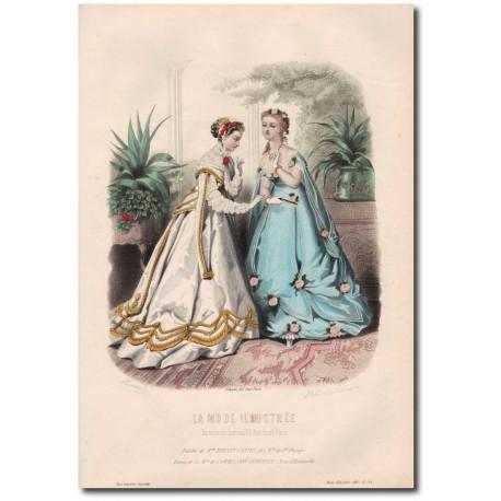 Gravure de La Mode Illustrée 1867 35