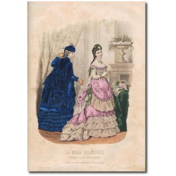 Gravure de La Mode Illustrée 1870 06