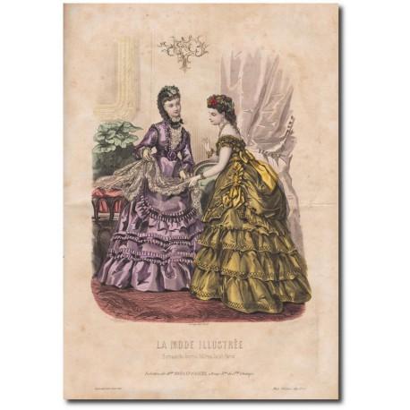 Gravure de La Mode Illustrée 1870 08