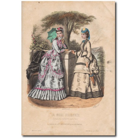Gravure de La Mode Illustrée 1870 29