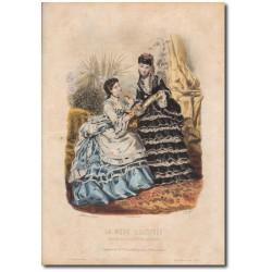 Gravure de La Mode Illustrée 1870 32