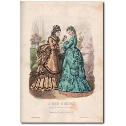 Gravure de La Mode Illustrée 1872 33