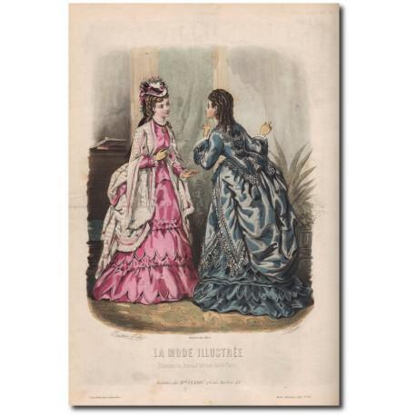 Gravure de La Mode Illustrée 1872 35