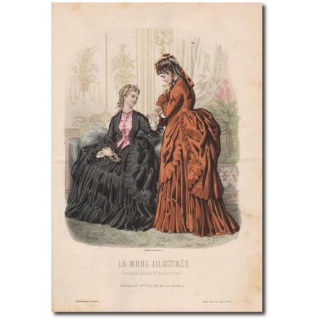 Gravure de La Mode Illustrée 1872 37