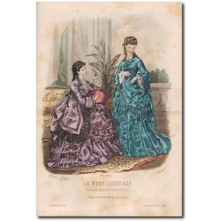 Gravure de La Mode Illustrée 1872 45