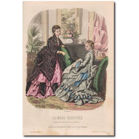 Gravure de La Mode Illustrée 1872 46
