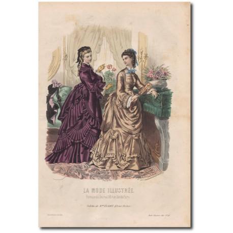 Gravure de La Mode Illustrée 1872 48
