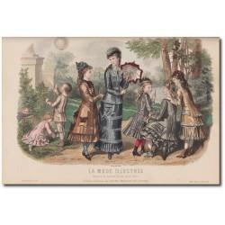 Gravure de La Mode Illustrée 1878 22