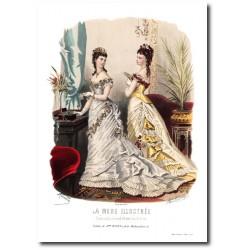 Gravure La Mode Illustrée 1876 18