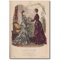 Gravure de La Mode Illustrée 1876 21