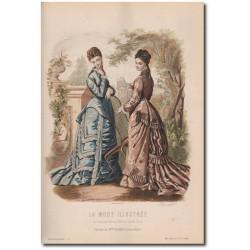 Gravure de La Mode Illustrée 1876 23