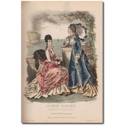 Fashion plate La Mode Illustrée 1876 30