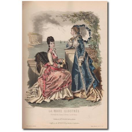 Gravure de La Mode Illustrée 1876 30