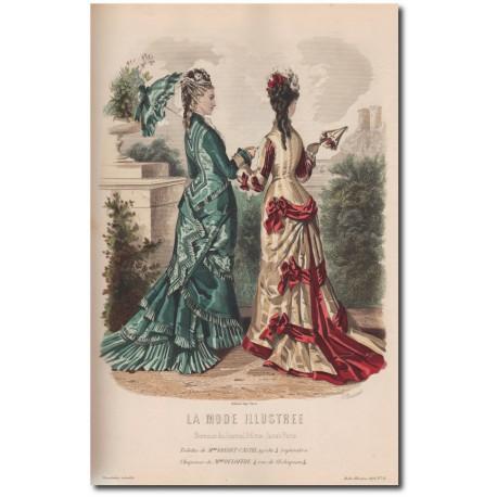 Gravure de La Mode Illustrée 1876 31