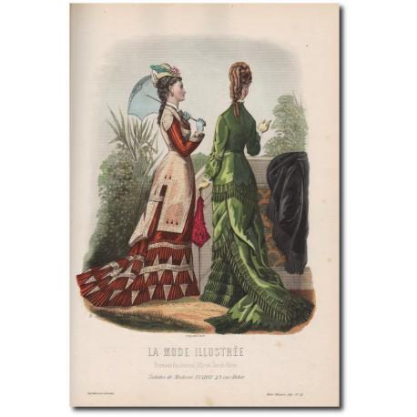 Gravure de La Mode Illustrée 1877 22