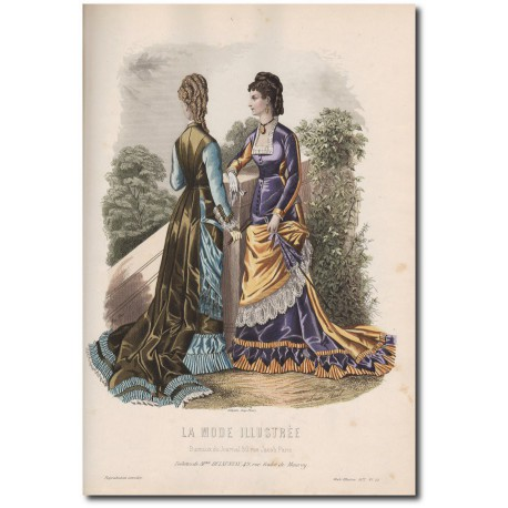 Gravure de La Mode Illustrée 1877 29