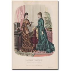 Gravure de La Mode Illustrée 1877 38