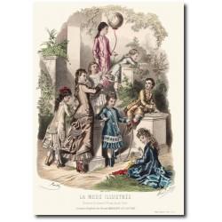 Gravure La Mode Illustrée 1876 21