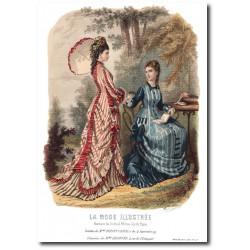 Gravure La Mode Illustrée 1876 27