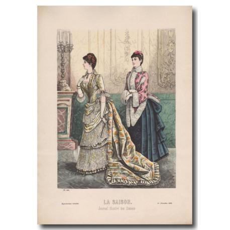 Fashion plate La Saison 1884 595