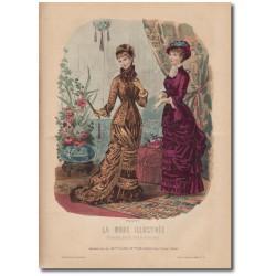 Gravure de La Mode Illustrée 1880 38