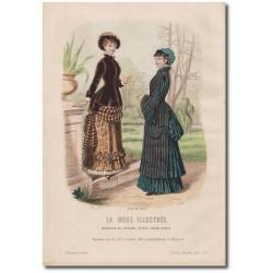 Gravure de La Mode Illustrée 1882 08