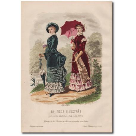 Gravure de La Mode Illustrée 1882 16