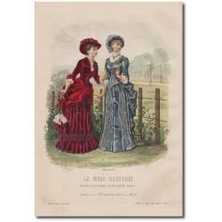 Fashion plate La Mode Illustrée 1882 17