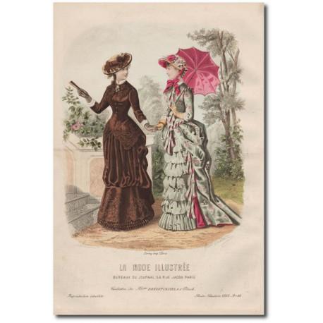Gravure de La Mode Illustrée 1882 20