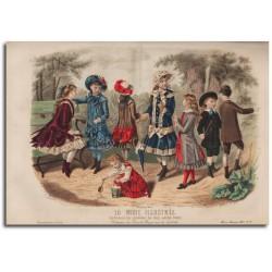 Gravure de La Mode Illustrée 1882 22