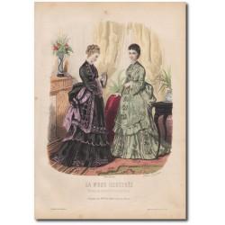 Gravure de La Mode Illustrée 1873 19