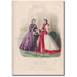 Gravure de La Mode Illustrée 1862 04