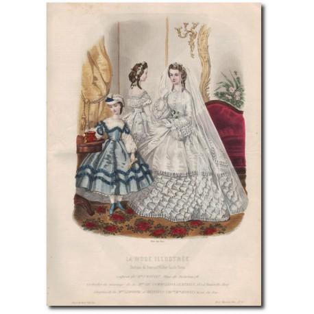 Gravure de La Mode Illustrée 1862 13
