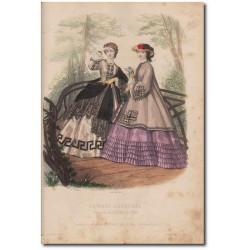 Gravure de La Mode Illustrée 1862 17
