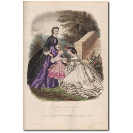 Gravure de La Mode Illustrée 1862 32