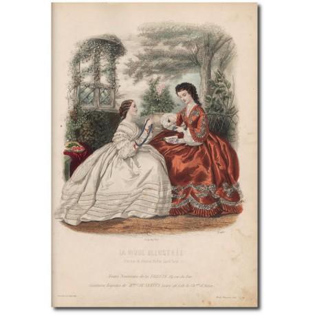 Gravure de La Mode Illustrée 1862 34
