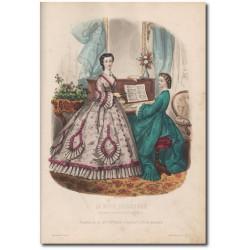 Gravure de La Mode Illustrée 1862 35