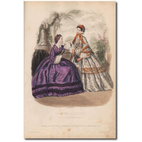 Gravure de La Mode Illustrée 1862 36