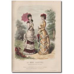 Gravure de La Mode Illustrée 1880 18